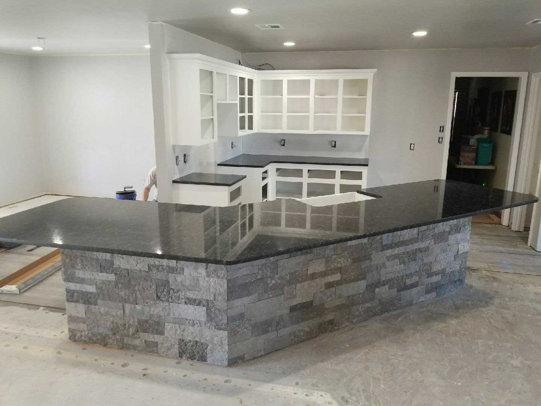 Oklahoma granite kitchen chisel edge